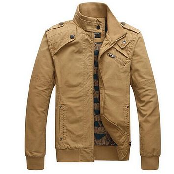 Winter Jacket Men`s Casual Jacket Cotton Stand Collar Coats Army Military Outdoors men's Male clothes overcoat