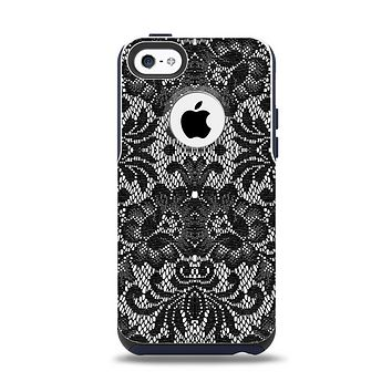 The Black and White Lace Pattern10867032_xl Apple iPhone 5c Otterbox Commuter Case Skin Set