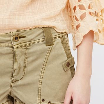 Free People Itsy Bitsy Military Short
