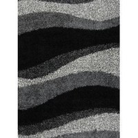 Home Dynamix Synergy S1005-480 4-Feet 9-Inch by 6-Feet 6-Inch Area Rug, Black/Gray