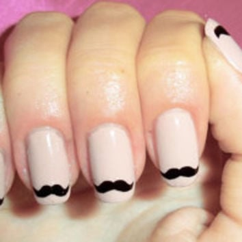 Cute moustache nails