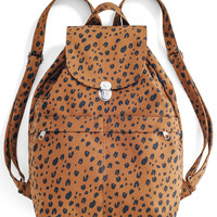 Canvas Backpack: Leopard