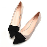 2016 Vintage Sexy Pointed toe High Heels Women Heeled Shoes Fashion Women's Pumps Brand Ladies Bowknot Middle Heels 5cm ZH684