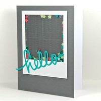 Confetti Shaker Fun Any Occasion Hello Greeting Card Handmade