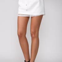Cheerleader Skirt White