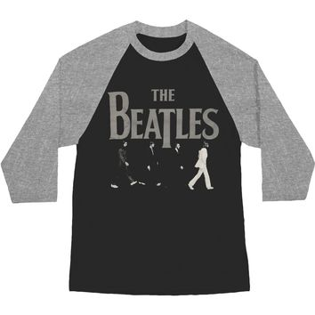Beatles Men's  Abbey Road Raglan Baseball Jersey Grey