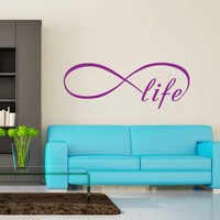 Wall Decal Vinyl Sticker Decals Art Home Decor Murals Quote Decal Infinity Symbol Wall Decal Infinity Loop Life Bedroom Home Decor Decals Vinyl Lettering V962