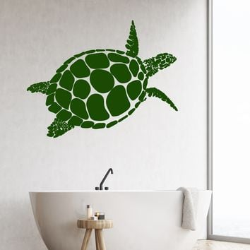 Vinyl Wall Decal Abstract Sea Turtle Animal Marine Style Stickers Unique Gift (1982ig)