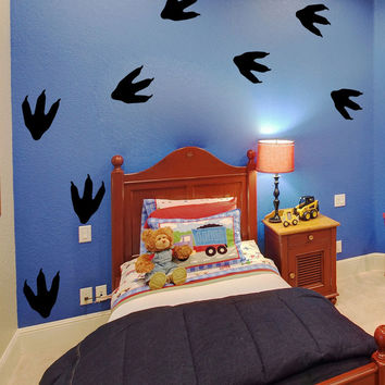 Vinyl Wall Decal Sticker Reptile Footprints #OS_MB737