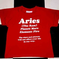 SWEET LORD O'MIGHTY! ARIES CROP TEE IN RED
