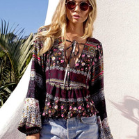 Boho Belle Sleeve Floral Top