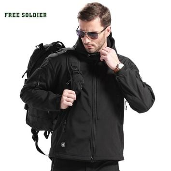 FREE SOLDIER Outdoor Sport Tactical Military Jacket Men's Clothing For Camping Hiking Softshell Windproof Warm Coat Hunt Clothes