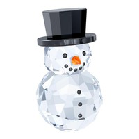 Swarovski Crystal Christmas Figurine SNOWMAN WITH HAT #5135852