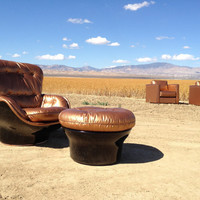 Copper Airborne French Lounge chair