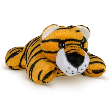 "Single Tiger Mini 4"" Small Stuffed Animal, Zoo Animal Toy, Jungle Safari Party Favor for Kids"
