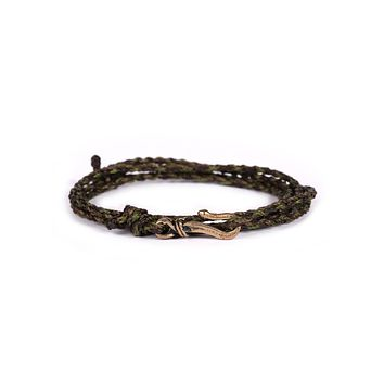 Brown + Green Rope Men's Bracelet