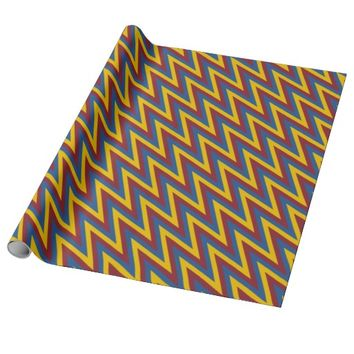 Tricolor Chevron Pattern Wrapping Paper
