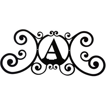 Wrought Iron House Plaque Letter