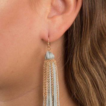 Mop Away Tassel Earrings
