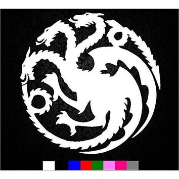 khaleesi Game of Thrones House Targaryen Sigil Vinyl Sticker Decal HBO Logo Car Truck Mac