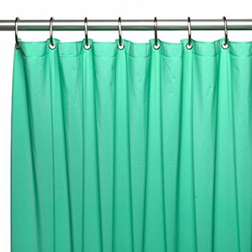 Carnation Home Fashions USC-4-06 4 Gauge Vinyl Shower Curtain Liner, Jade