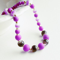 Girls Bubblegum Chunky Necklace - Purple Bubblegum Bead Necklace - Toddler Girl Necklace - Photo Prop Jewelry - Children's Jewelry