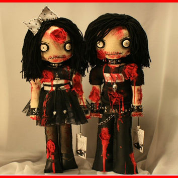 OOAK Hand Stitched Zombie Horror Dolls Creepy by TatteredRags