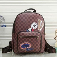 LV Louis Vuitton Fashion Unisex Shoulder Bag Bookbag Backpack Daypack I