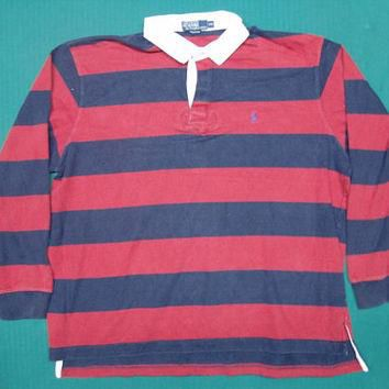 Vintage Polo Ralph Lauren Rugby Shirt Size XXL