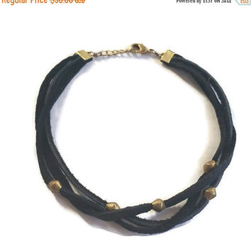 Spring SALE Wild Love Choker. Bohemian jewelry, boho chic jewelry, leather, festival style, choker