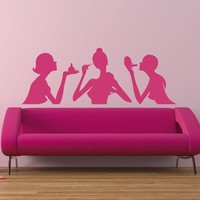 ik1942 Wall Decal Girl makeup manicure hair salon hairdresser