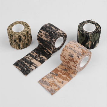 1 Roll Camo Stretch Bandage Camping Hunting Camouflage Tape for Gun Cloths