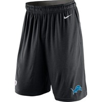 Mens Detroit Lions Nike Black Practice Wear Performance Shorts