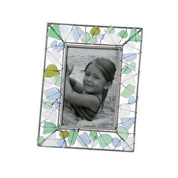 2 Photo Frames - Sea Glass