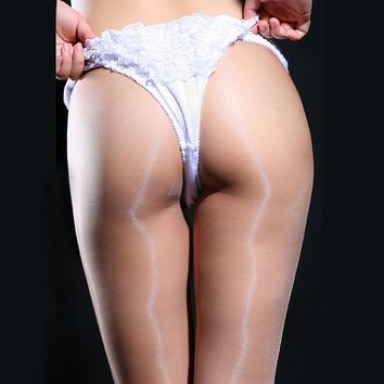 Ultra Thin Sexy Women Transparent Stockings Fashion Pantyhose Tights Oil Shiny Glossy 341