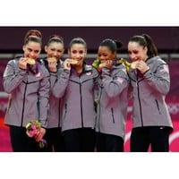 Olympic Woman's Gymnastics Fab Five with the Gold 8x10 Photo: Everything Else