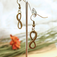 infinity earrings, Antique karma earrings, True Love earrings