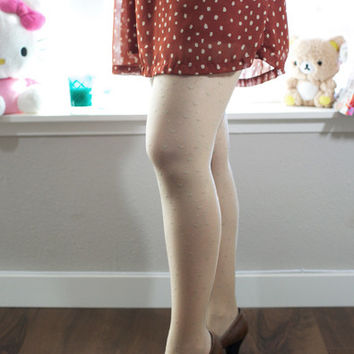 We Heart It Tights - Nude