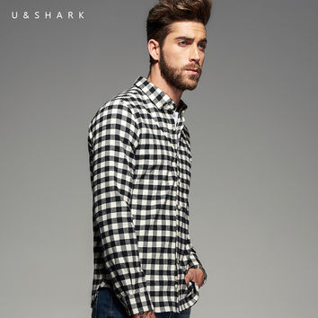 New Mens Cotton Flannel Shirts Black Plaid Shirt Men Long Sleeve Plaid Casual Shirt Male Check Shirts Clothes