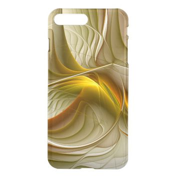 Colors of Precious Metals, Abstract Fractal Art iPhone 7 Plus Case
