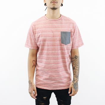 Clay Pocket T-Shirt (Light Red)