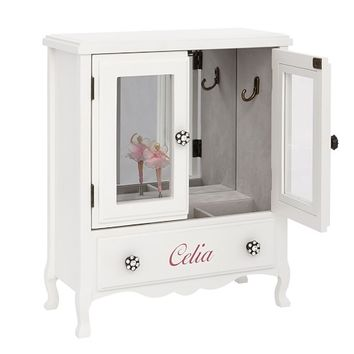 White Mill Valley Armoire Jewelry Box | Pottery Barn Kids