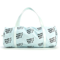 work it out gym bag - think it want it get it