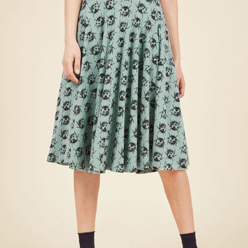 Easy Peasy, Livin' Breezy Midi Skirt in Ladybugs