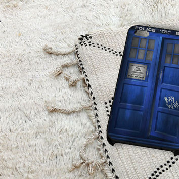 Tardis Box Bad Wolf iPhone 5 iPhone 4 / 4S Plastic Hard Case Soft Rubber Case