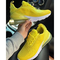 Nike Air Max 270 New fashion couple sneakers shoes Yellow