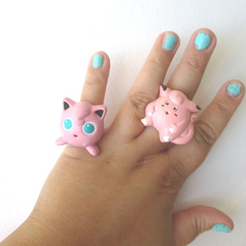 Pokémon Rings - JIGGLYPUFF & CLEFAIRY Rings - Gamer Gear
