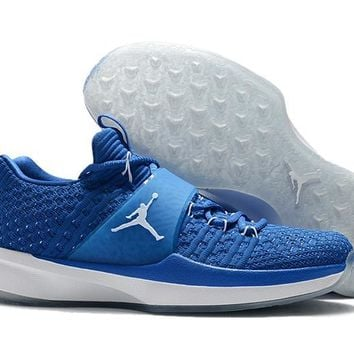 Nike Air Jordan   (Blue /White    )Training  Basketball Shoes