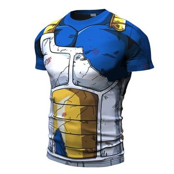 Short Sleeve Battle Damaged Saiyan Armor shirt