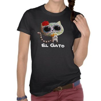 Cat of Day of The Dead Tees from Zazzle.com